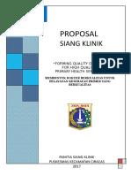 Proposal Seminar puskesmas kecamatan ciracas