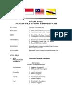 Susunan Panitia Program Muhibah Borneo Tahun 2019