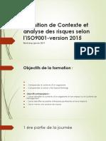 Contexte Et Analyse Des Risques Selon ISO 9001v2015