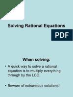 Solvng Rational Equations