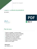 Chapitre 4 _ Construction de Portefeuille (I)