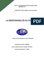 ResponsAbiLite Du Chargeur en droit maritime