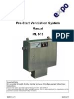 Pre Start Ventilation System Manual ML513 PV 3 5 7.