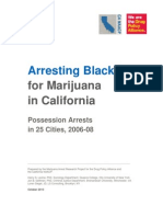 Arresting Blacks for Marijuana in California