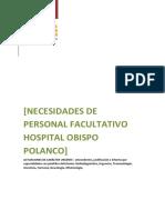Necesidades Urgentes de Facultativos Especialistas en El Hospital Obispo Polanco de Teruel 2019