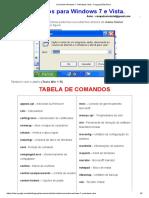 Comandos Windows 7 e Windows Vista