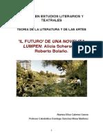 ELISA CABRERA. Teoría de la literatura y del cine. Il futuro y Una novelita lumpen