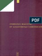Preview Staffan Wahlgren Symeonis Magistri Et Logothetae Chronicon Recensuit Staffan Wahlgren Corpus Fontium Historiae Byzantinae