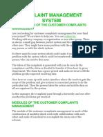 Complaint Management System