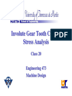 Involute Gear Tooth Contact Stress Analysis