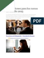 Instrucciones Para Los Cursos de Estudio 2015