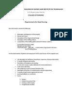 HN Requirements List