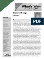 ISA Division Newsletter 2003