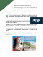 Biografía Resumida de Santa Rosa de Lima