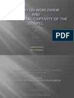 A Study on Worldview and the Cultural Captivity of the Gospel by CAS