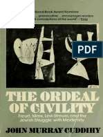 """Cuddihy, J. M. 1974. """"The Ordeal of Civility"""