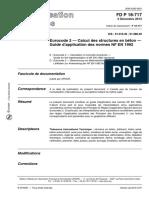 FD P 18-717 (2013) - Guide d'Application Des Normes NF en 1992