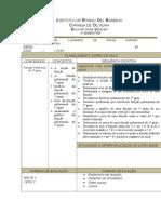 Ficha Planejamento Diário 8ª Série 3ºbim