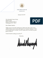 President Trump's Letter on the State of the Union