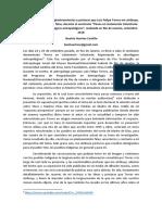 Respuesta a Ponencia de Luis Felipe Torres Sobre Pueblos en Aislamiento en Río de Janeiro Setiembre 2018