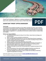 GPKD_JobAd_Asst Front Office Manager