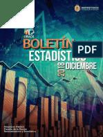 Boletin Estadistico Diciembre 2018