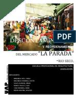 DESCONTAMINACIÓN Y REORDENAMIENTO DE LA PARADA RIO- SECO - AQP