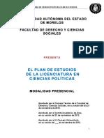 Licenciatura en Ciencias Políticas Plan de estudio