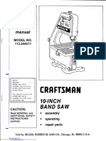 Craftsman 10 Band Saw 113.244513