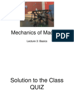 Mechanics of Machine - Lecture 3