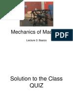 Mechanics of Machine - Lecture 3
