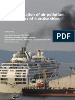2019 an Investigation of Air Pollution on the Decks of 4 Cruise Ships