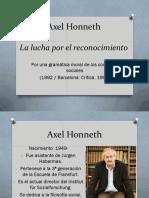 PPT - Axel Honneth- La Lucha Por El Reconocimiento - Martin Fleitas.