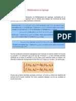 Multiplicadores de Lagrange Gerson Moreta