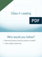 Class 4 - Leading
