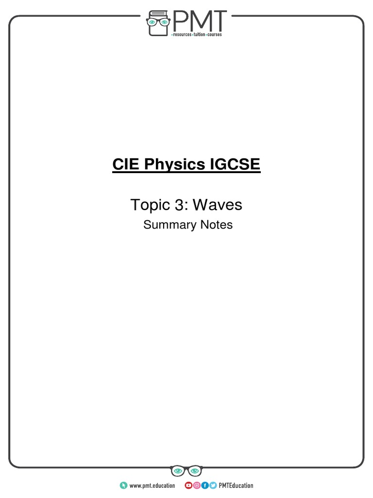 Summary Notes - Topic 3 CIE Physics IGCSE   Electromagnetic