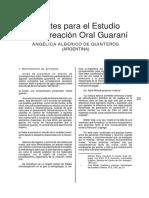 Alberico - Apuntes Para El Estudio de La Creación Oral Guaraní