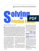 Solving Friction Factor