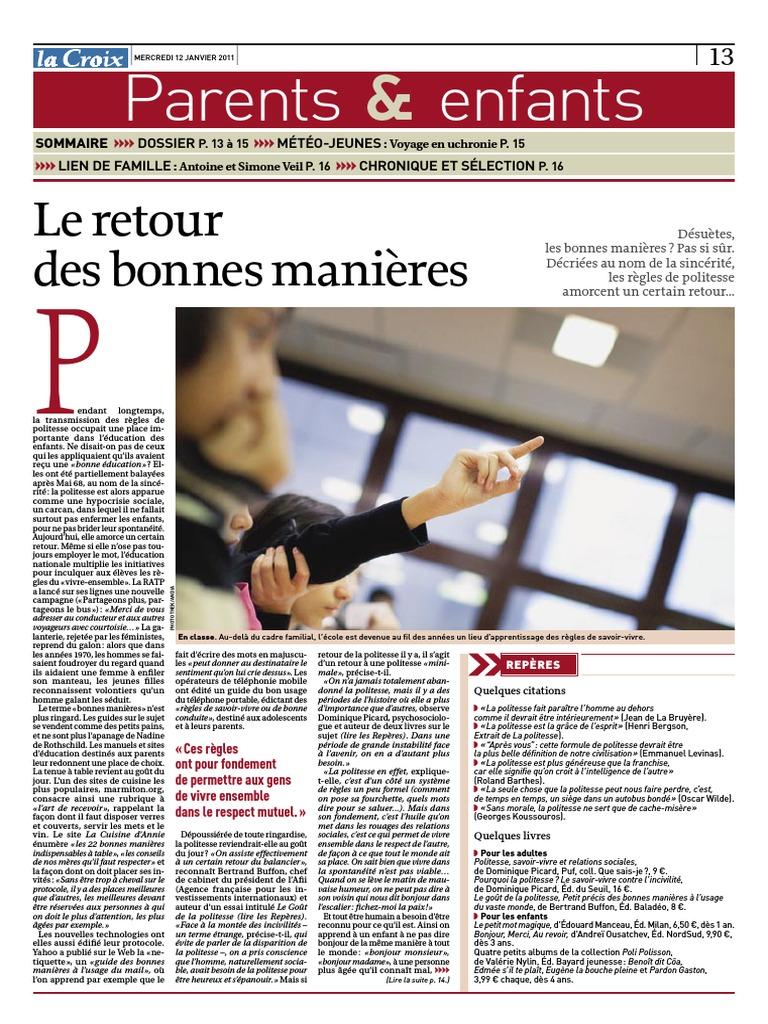 Guide Des Bonnes Manieres Rothschild les bonnes manieres
