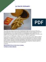 Mas Sobre Las Happy Meal de McDonald's..Una Semana Despues