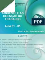 Aula 01- 05- Ambiente e as Doenças Do Trabalho.
