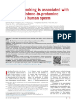 Cigarette Smoking is Associated With Abnormal Histone to Protamine Transition in Human Sperm