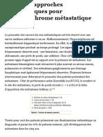 Nouvelles approches thérapeutiques pour l'hypernéphrome métastatique - Revue Médicale Suisse