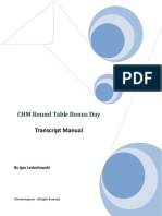 04 - Conversational Hypnosis Mastery - Bonus Day Roundtable Manual