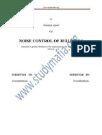 Civil Noise Control of Buildings Report