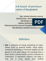 Major risk & hazard  of petroleum exploration of BD