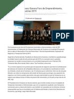 23-01-2019 - Organiza La Fecanaco Sonora Foro de Emprendimiento Negocios y Franquicias 2019 -Canalsonora.com
