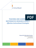 Teaching and Learning Math Research Series 1