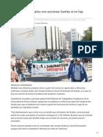 23-01-2019 - Amenazan sindicatos con acciones fuertes si no hay solución - elimparcial.com