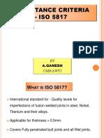 ISO 5817 - Welds Acceptance Criteria